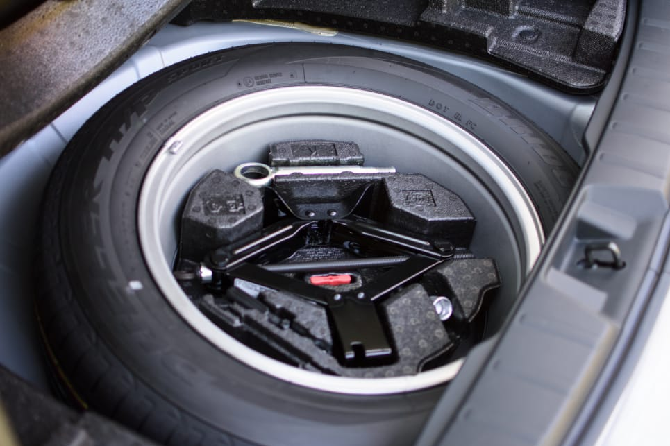 The Forester comes with a full-size spare wheel.