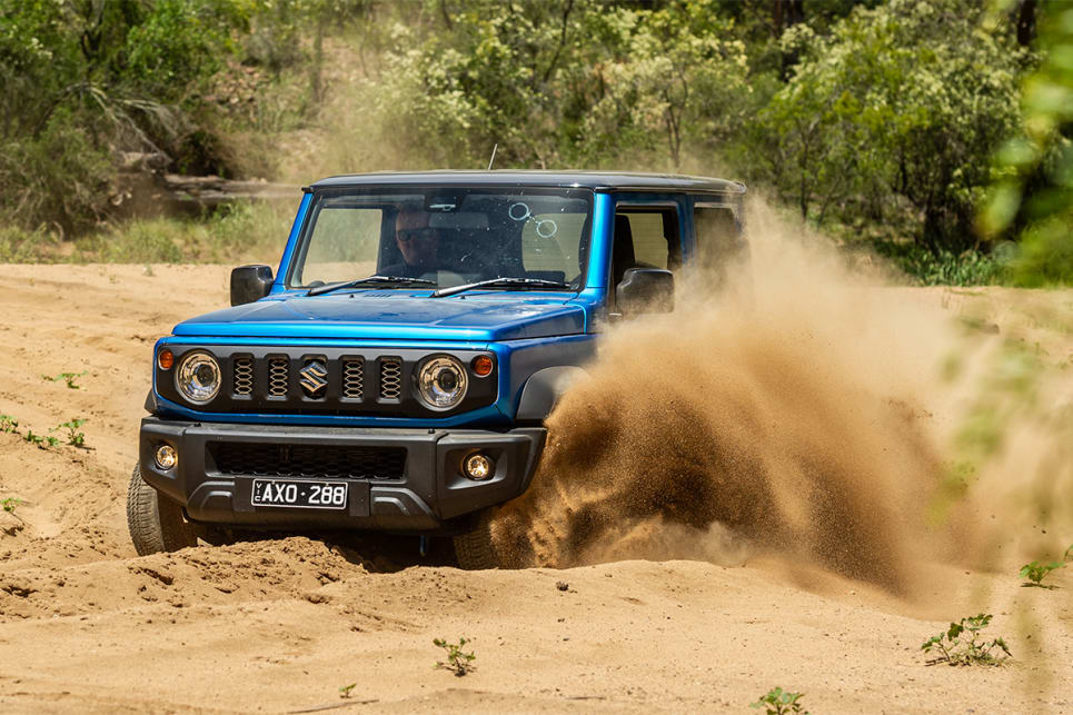The Jimny is zippy on sand.
