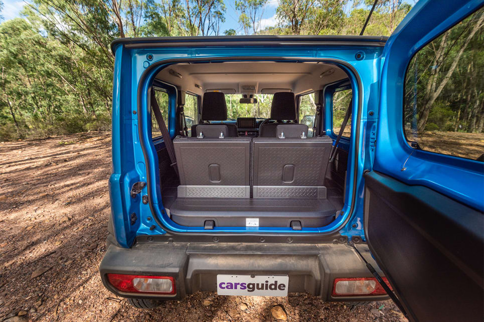 With the second row seats in use, boot space is rated at 85-litres VDA.