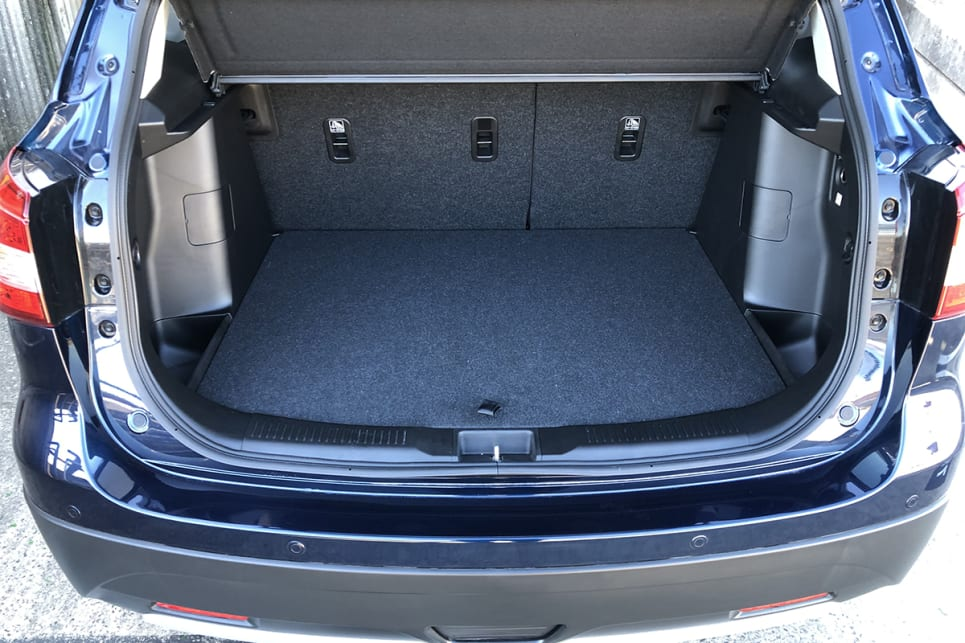 With the rear seats in place, boot space is rated at 430 litres.