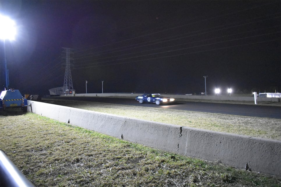 During the night race, TCM ran on a shorter track layout at Sydney Motorsport Park.