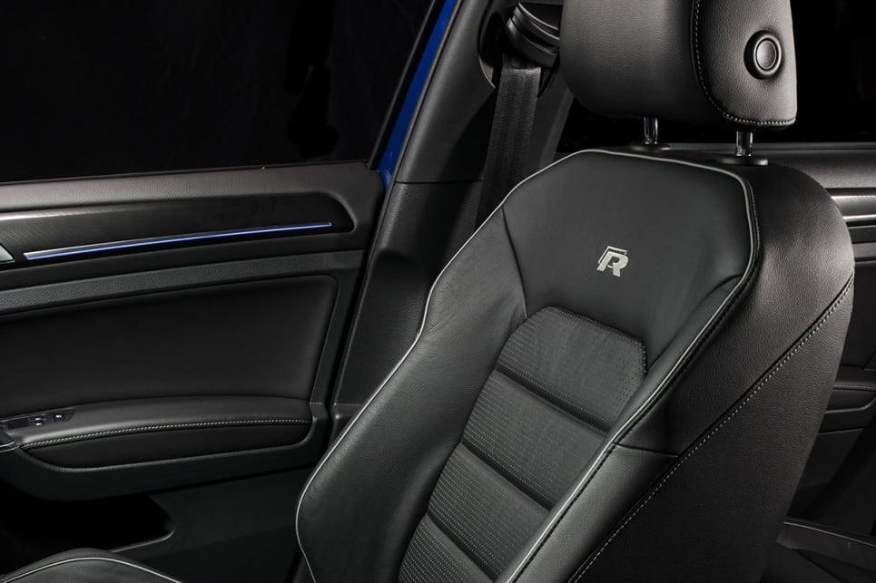 the leather seats have a high-quality look and feel.