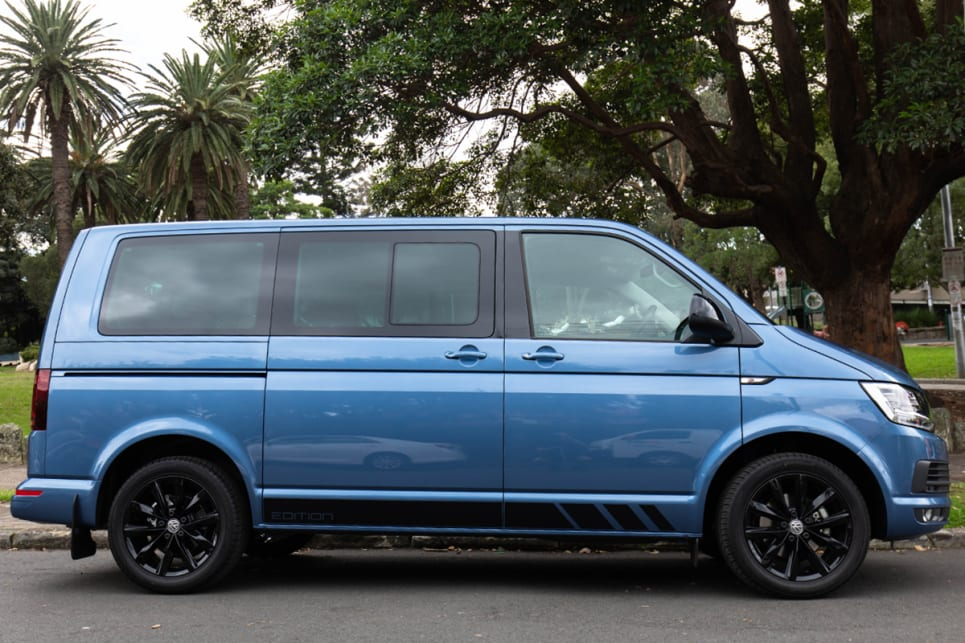 VW has aimed to make the Multivan Black Edition a cooler looking version of a van.
