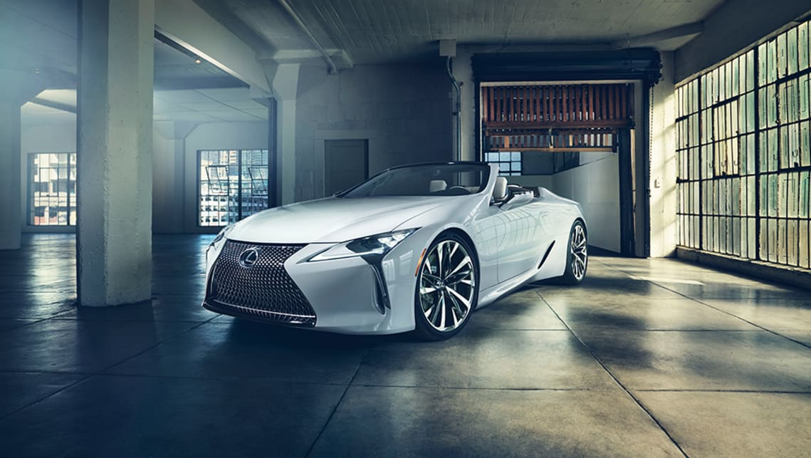 The LC Convertible Concept previews what a topless version of Lexus' flagship sportscar could look like.