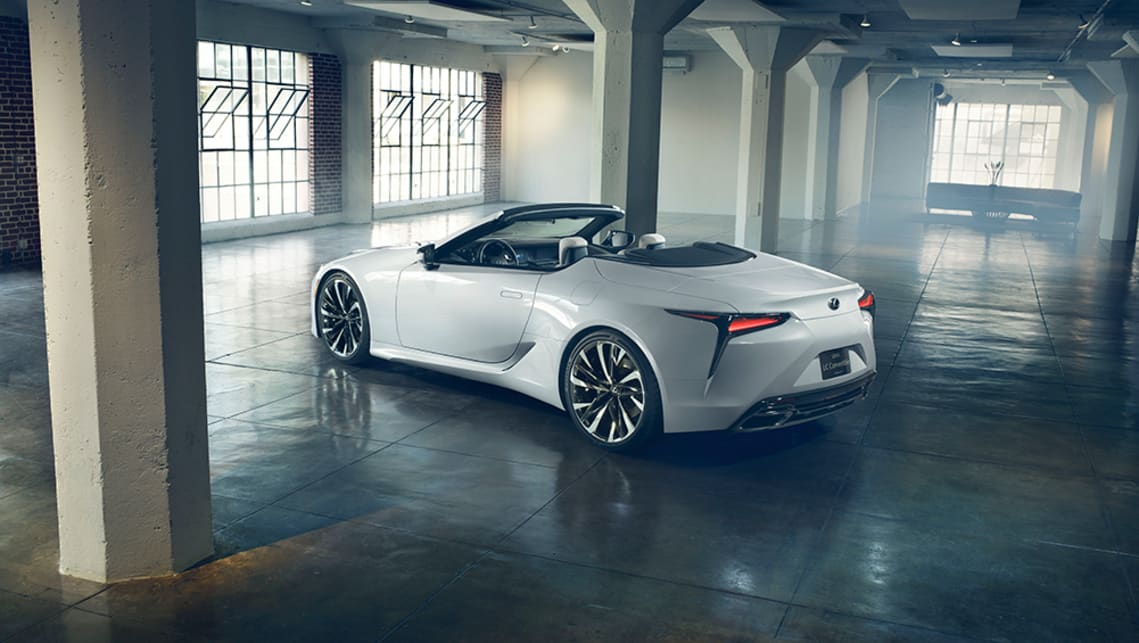 Compared to its coupe sibling, the Convertible Concept sits 5mm lower, at 1340mm.