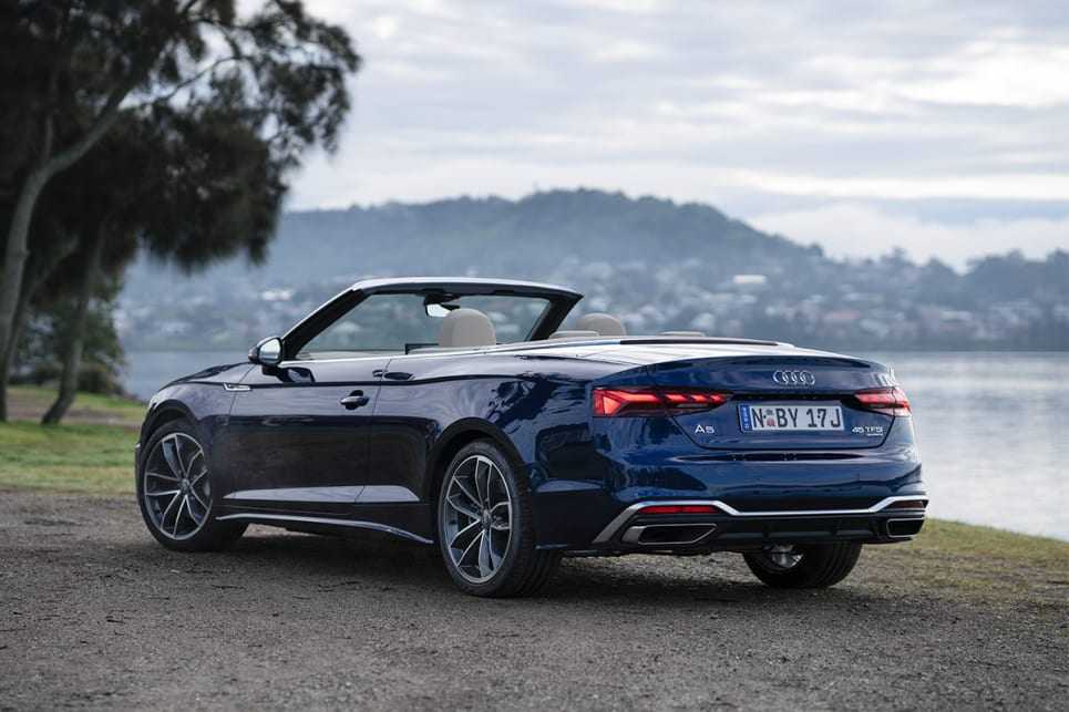 Audi A5 45 TFSI Cabriolet pictured.