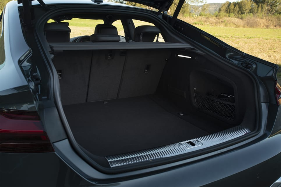 In the Sportback, boot space is rated at 480 litres. (45 TFSI Sportback variant pictured)
