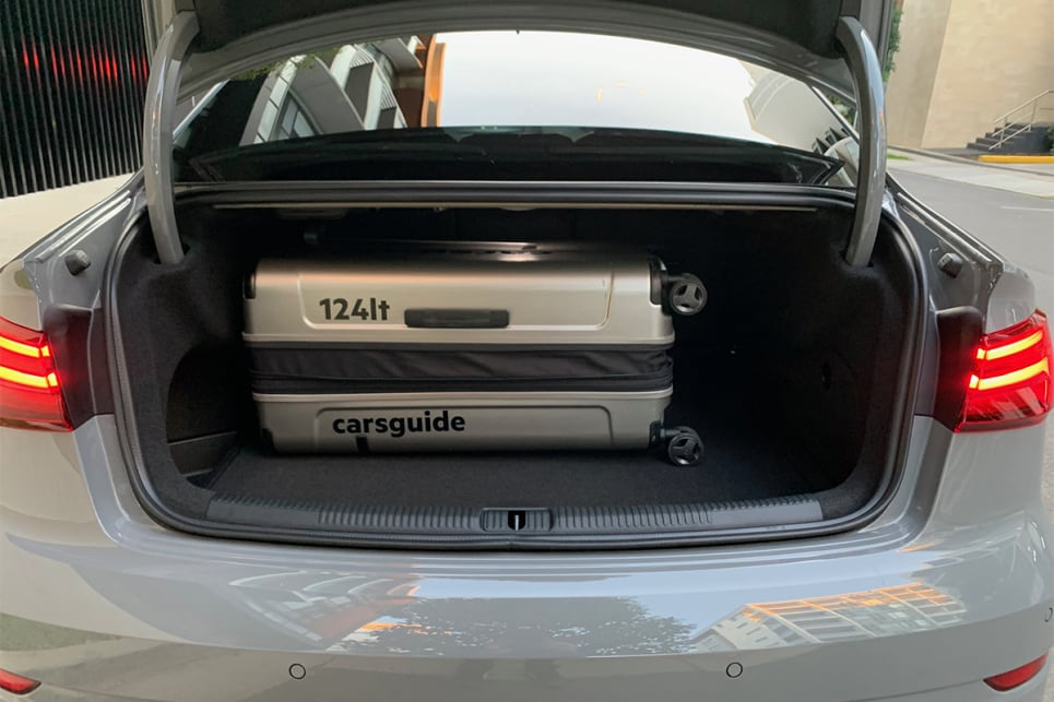 Folding the rear seats down increases cargo capacity to 770L.