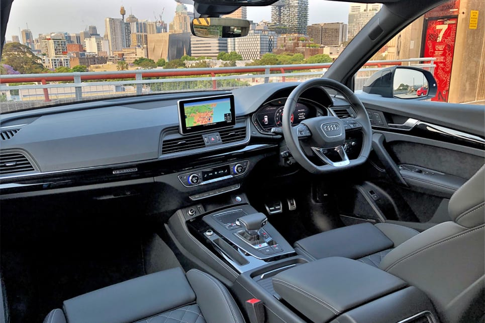 Inisde, you'll find an 8.3-inch display with Apple CarPlay and Android Auto.