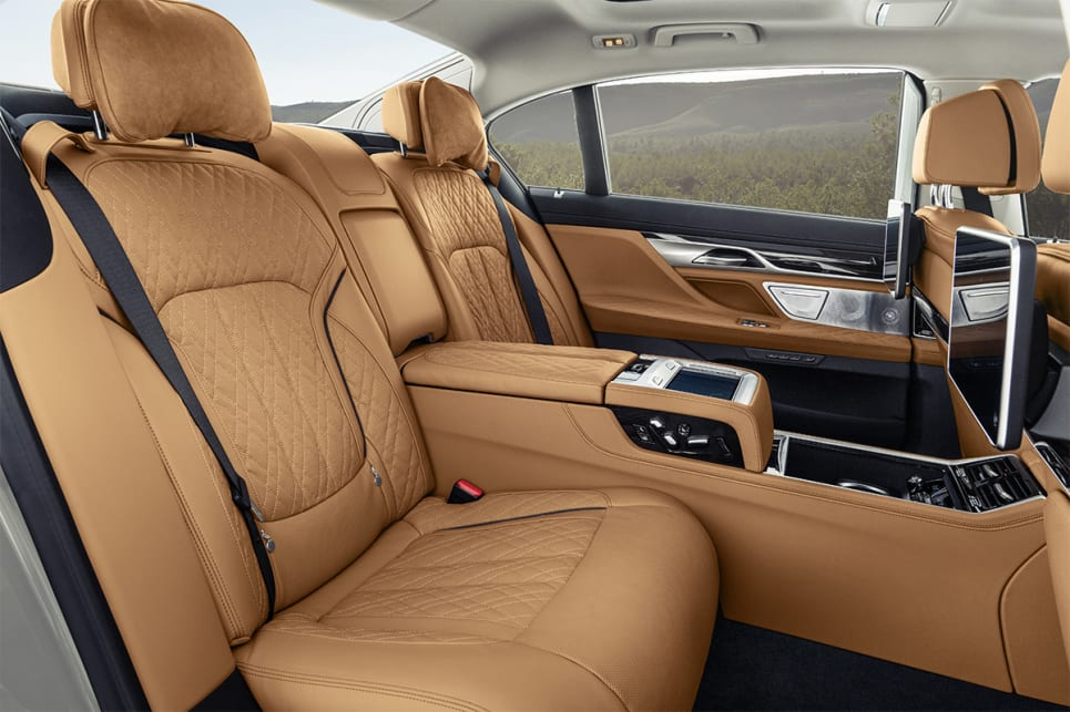 In the LWB models back passengers get a new 'Executive Lounge' set-up.