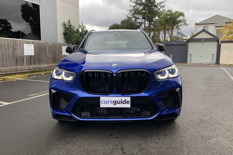 Up front the Competition cuts an imposing figure thanks to its version of BMW's signature kidney grille.