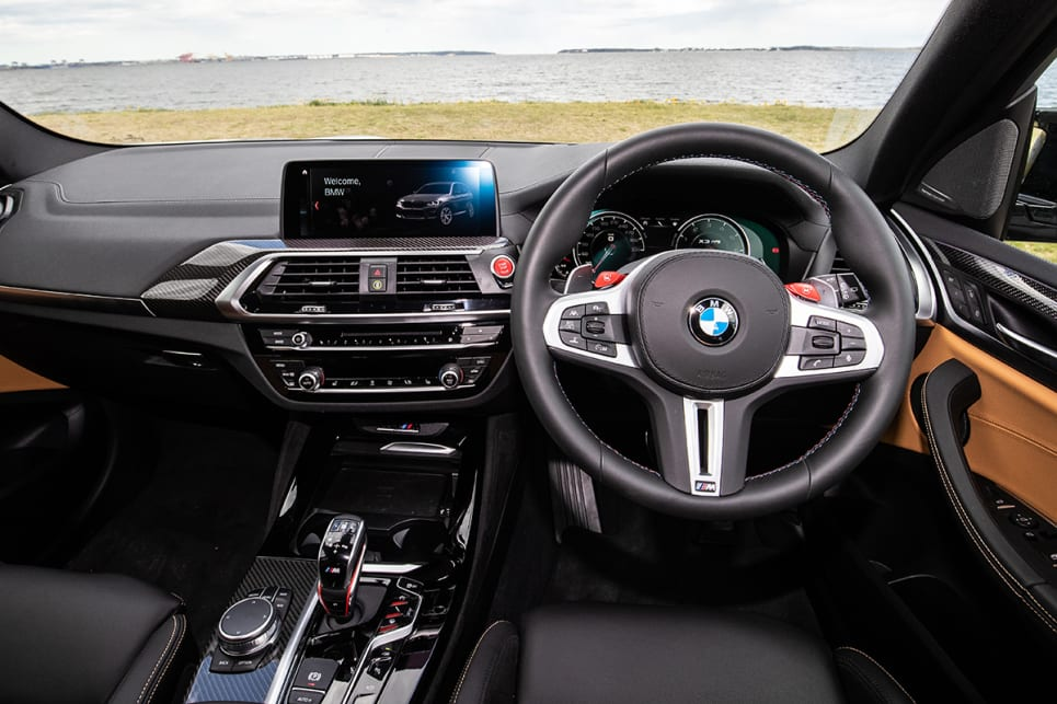 The X3's interior pre-dates the current X5, X7 and 3 Series which are rather more attractive and packed with newer tech. (image: Peter Anderson)