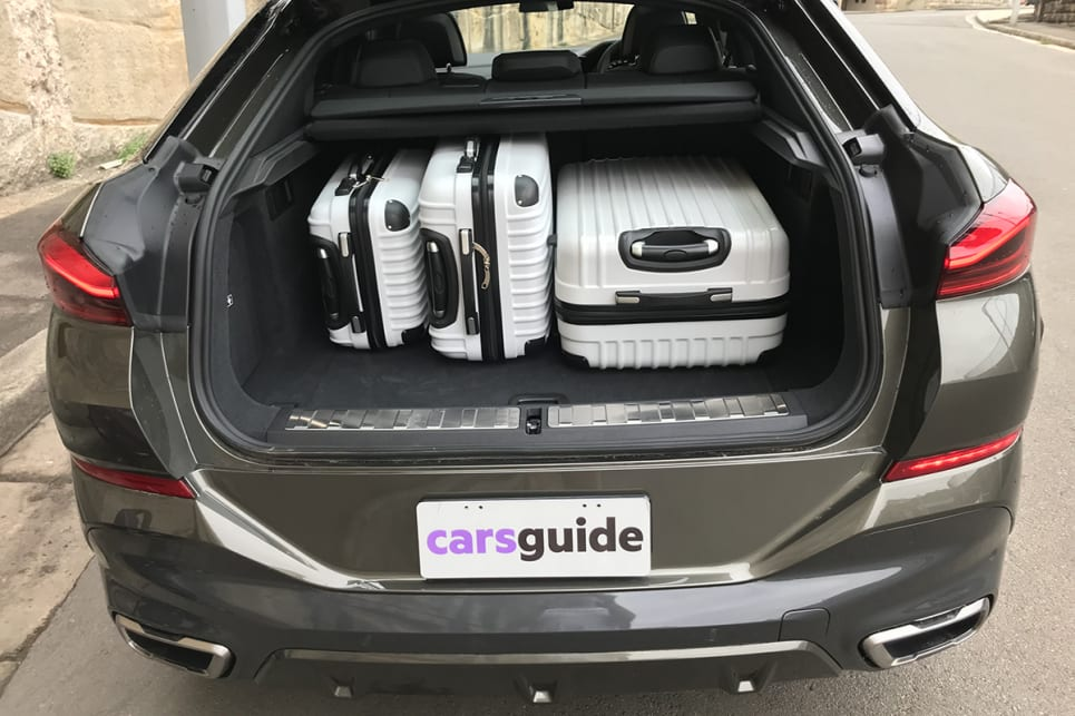 It has enough space to swallow our three-piece hard suitcase set (35, 68 and 105 litres). (image: James Cleary)