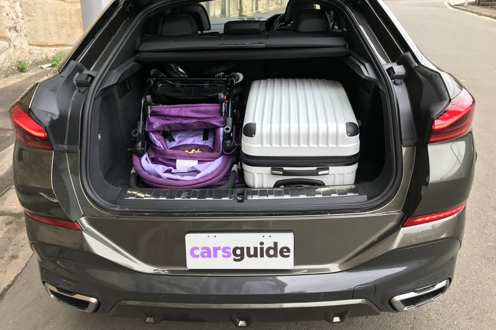 It fits the jumbo size 'CarsGuide' pram, with room to spare. (image: James Cleary)