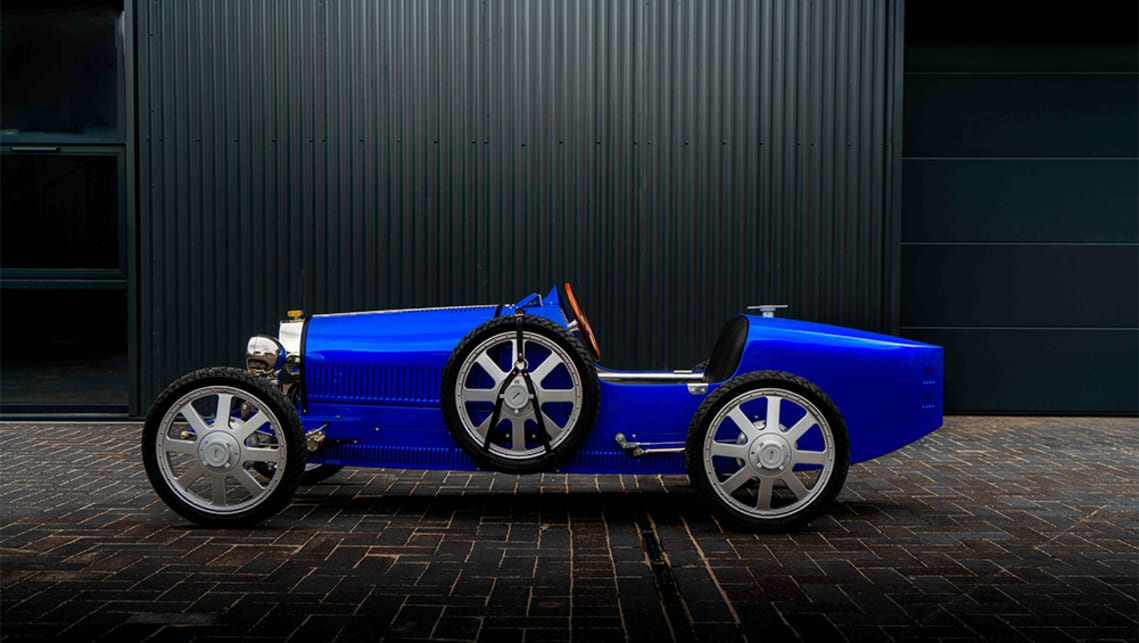 The Bugatti Baby II finished in French Racing Blue.