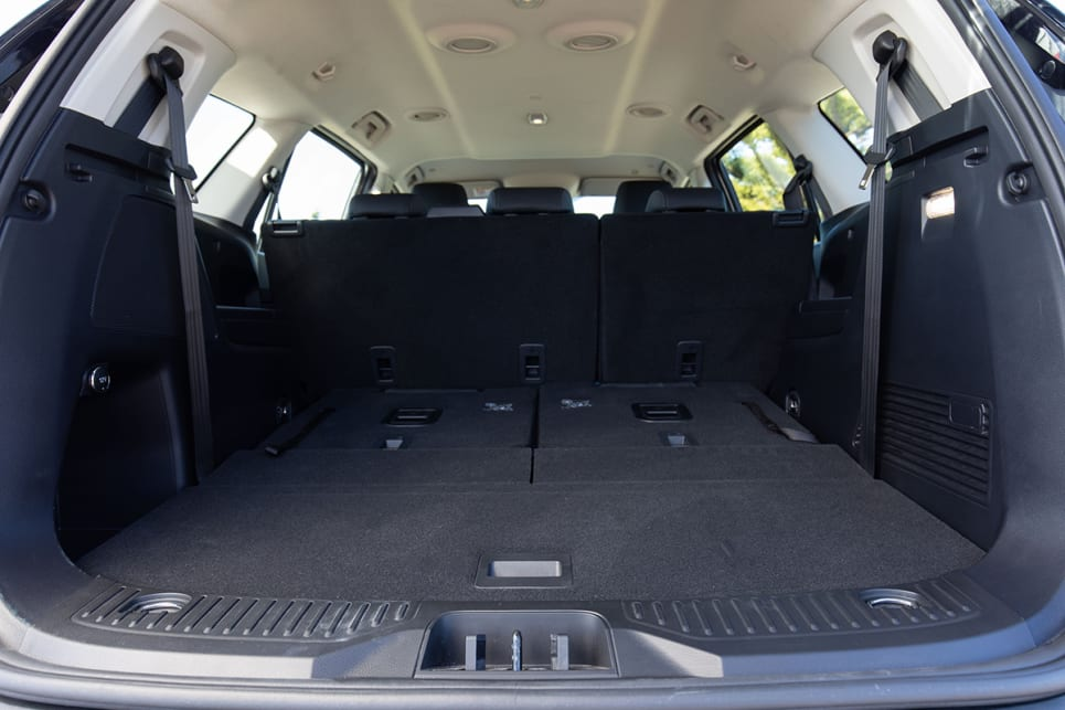 With the third row down, you'll get a much bigger 1050-litre space. (image: Dean McCartney)