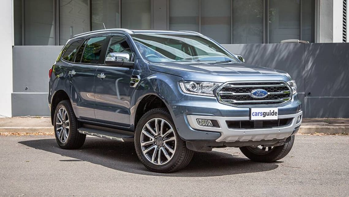The Ford Everest Titanium has the textbook high-riding SUV stance.