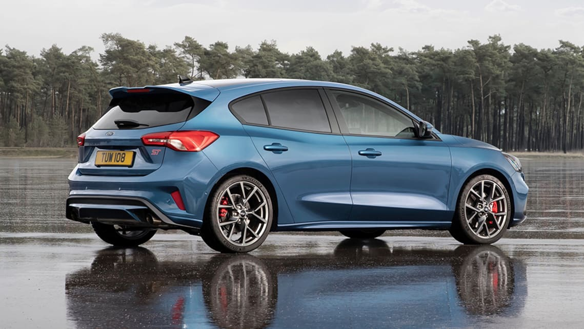 Compared to a standard Focus the ST gets a sporty bodykit with twin rear exhaust tips.
