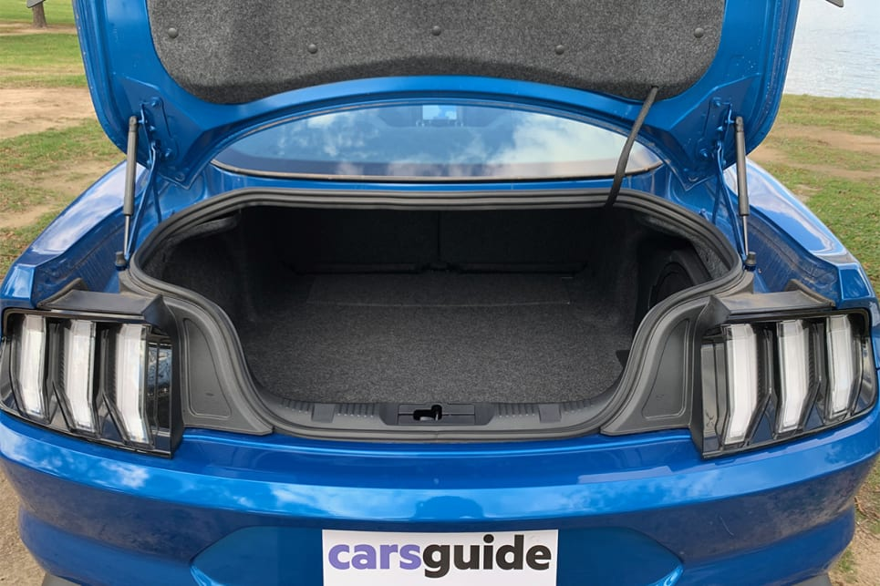 Cargo space is rated at 408 litres with the rear seats in place.