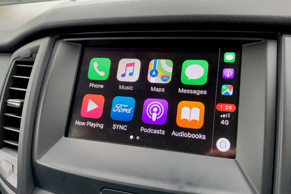 The media system also comes with Apple CarPlay and Android Auto.