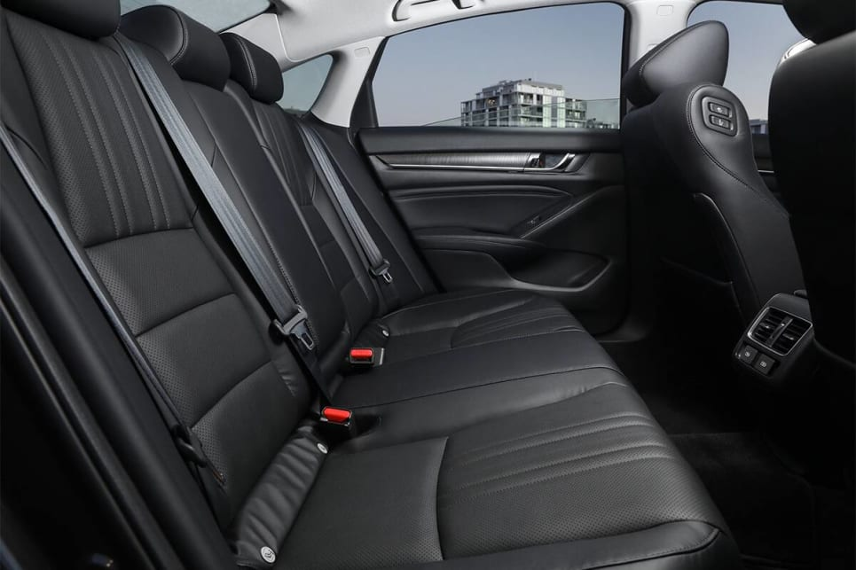 The back seat has leagues of legroom. (Petrol model shown)