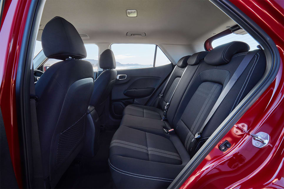 In the back, there's room for two adults. (Active model shown)