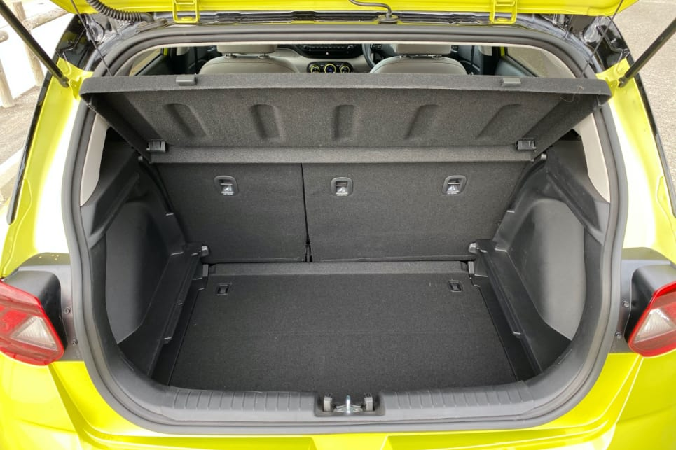 You do very nicely for boot space. Hyundai says it's an impressive 355 litres. (image: Peter Anderson)