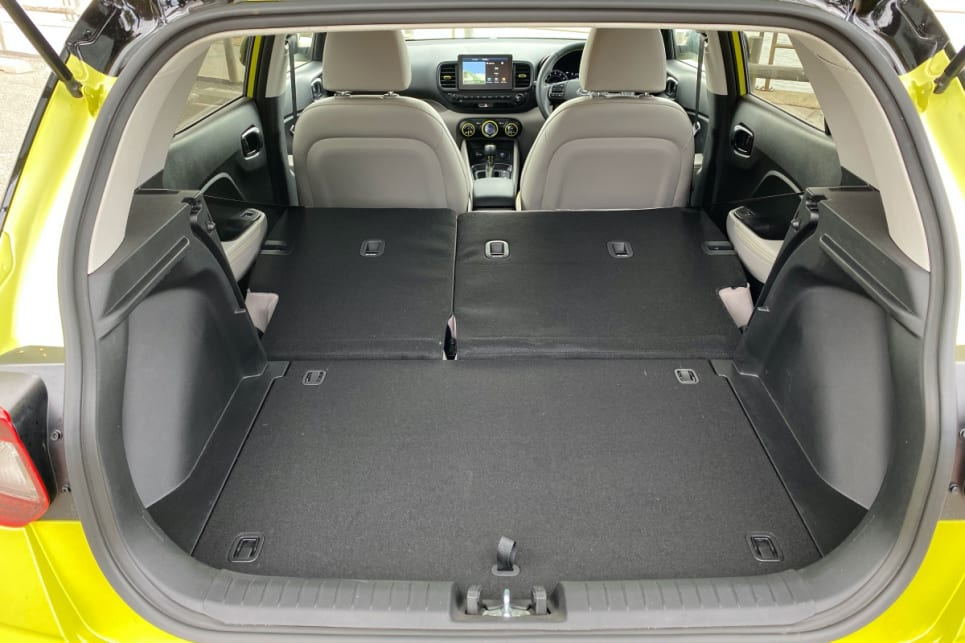 Hyundai won't tell us how much space you have with the seats down, but it's bound to be around 1000 litres. (image: Peter Anderson)