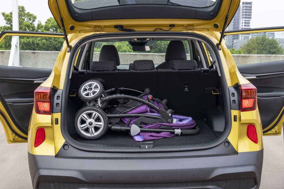 The carsguide pram fits with room to spare.