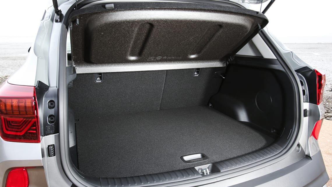 Kia claims a massive 498 litres of luggage space with the rear seat in place.