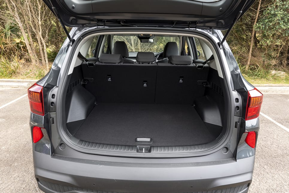 Kia Seltos with rear seats in place.