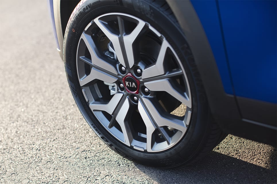 The GT Line has 18-inch alloy wheels. (Seltos GT Line model shown)