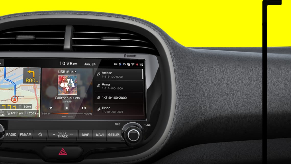 The new update features a large touchscreen that takes pride of place in the centre of the dash.