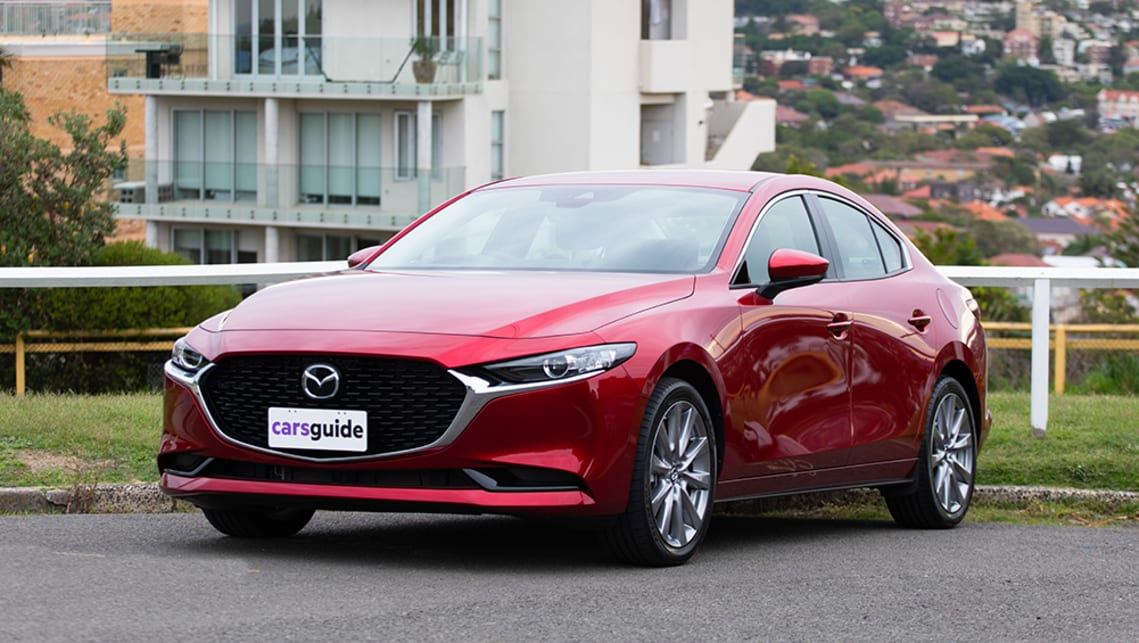 The Mazda3 sedan is considerably more sizeable than its hatchback sibling. (image: Dean McCartney)