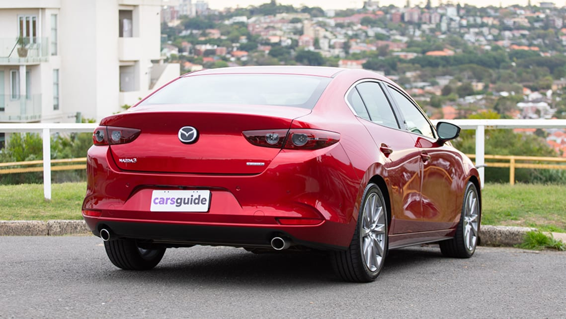 While the new shape Mazda3 hatchback has a modern vibe, this sedan is not as swanky as it's hatchback sister. (image: Dean McCartney)