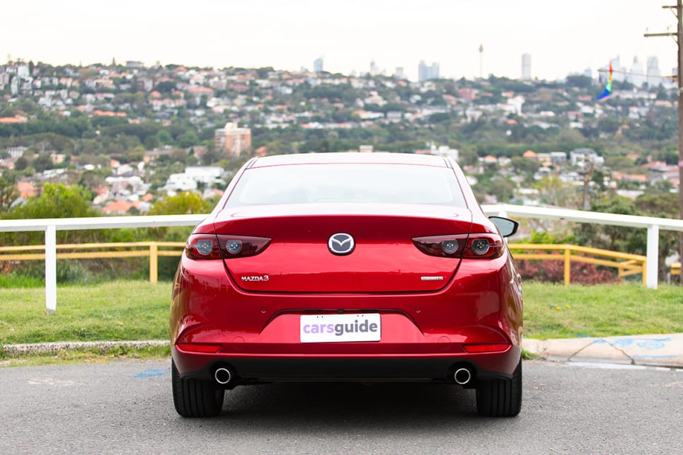 The boot in the Mazda3 sedan is much bigger than the hatchback version. (image: Dean McCartney)