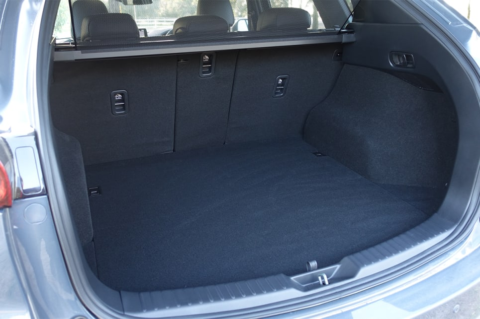 With the rear seats in place, there's 442 litres of boot space.
