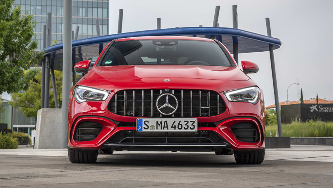 Like it's A 45 sibling the CLA 45 S features AMG's now signature Panamericana grille with 12 vertical louvres.