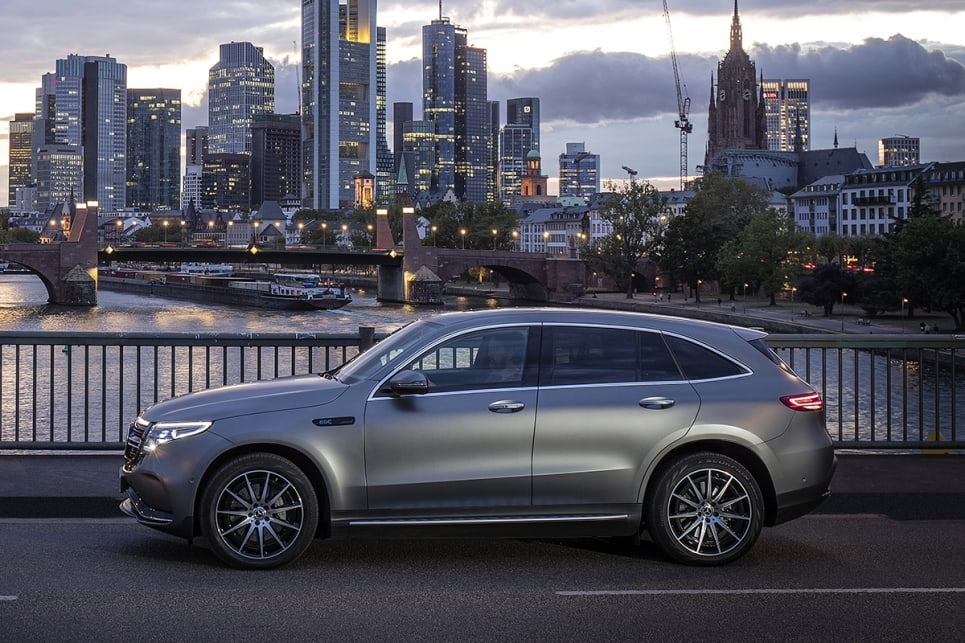 The pure-electric EQC SUV will launch in Australia in the coming months.