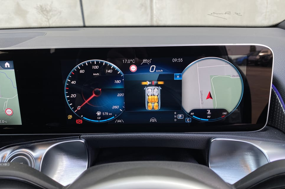 With one the central touchscreen and the other the digital instrument cluster. (image: Justin Hilliard)