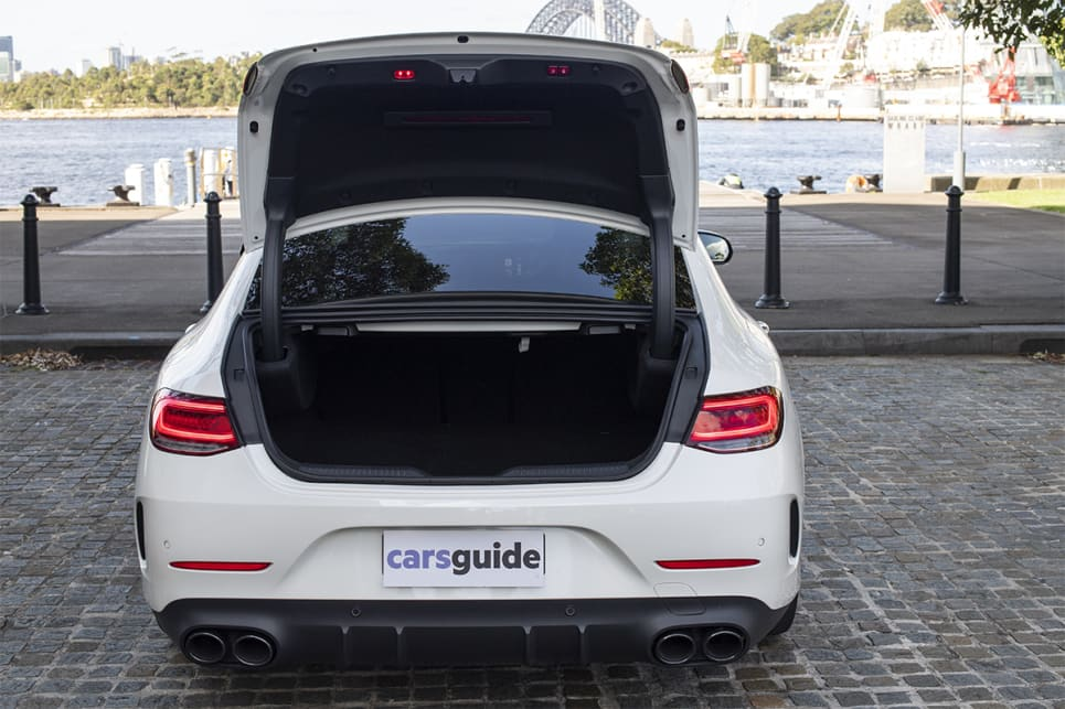 The CLS 53 offers 520 litres of cargo capacity.