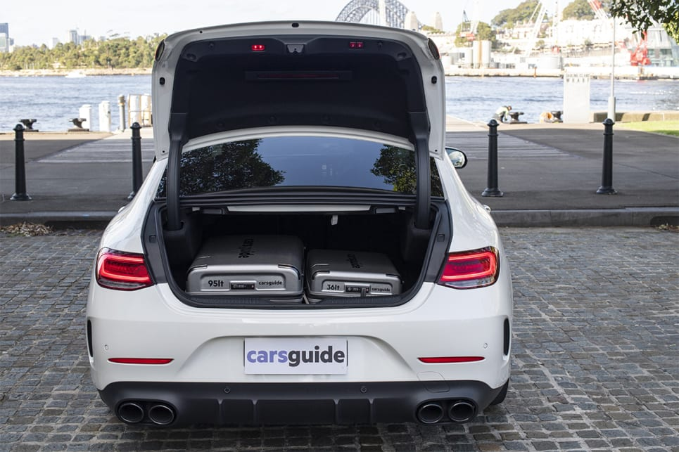 The CLS 53 has a regular sedan-style cargo area, which means you do lose some practicality.