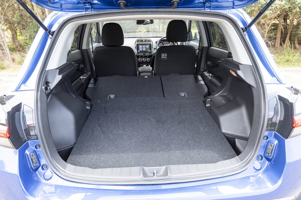 Mitsubishi ASX with rear seats folded down.