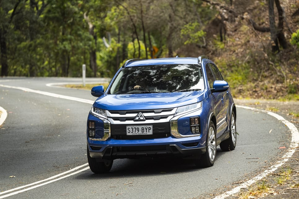 The ASX has clumsy suspension, and its steering was inconsistent and fidgety.