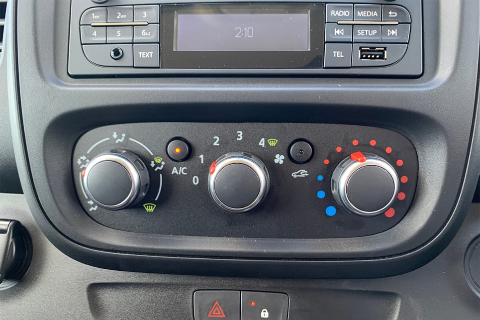 Inside is single zone air conditioning. (LWB model shown)