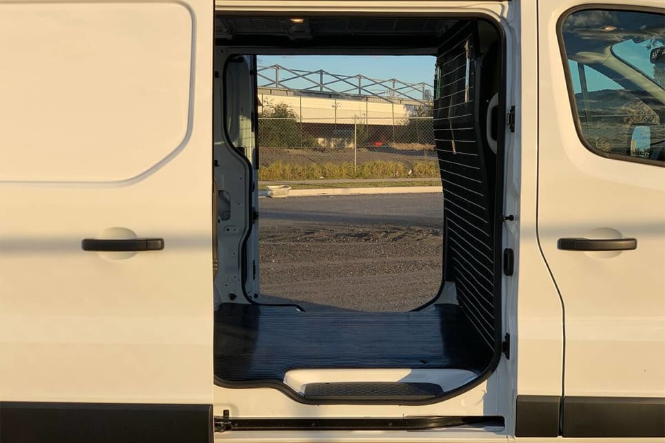 The dual side sliding doors are standard on the Express/ (SWB model shown)