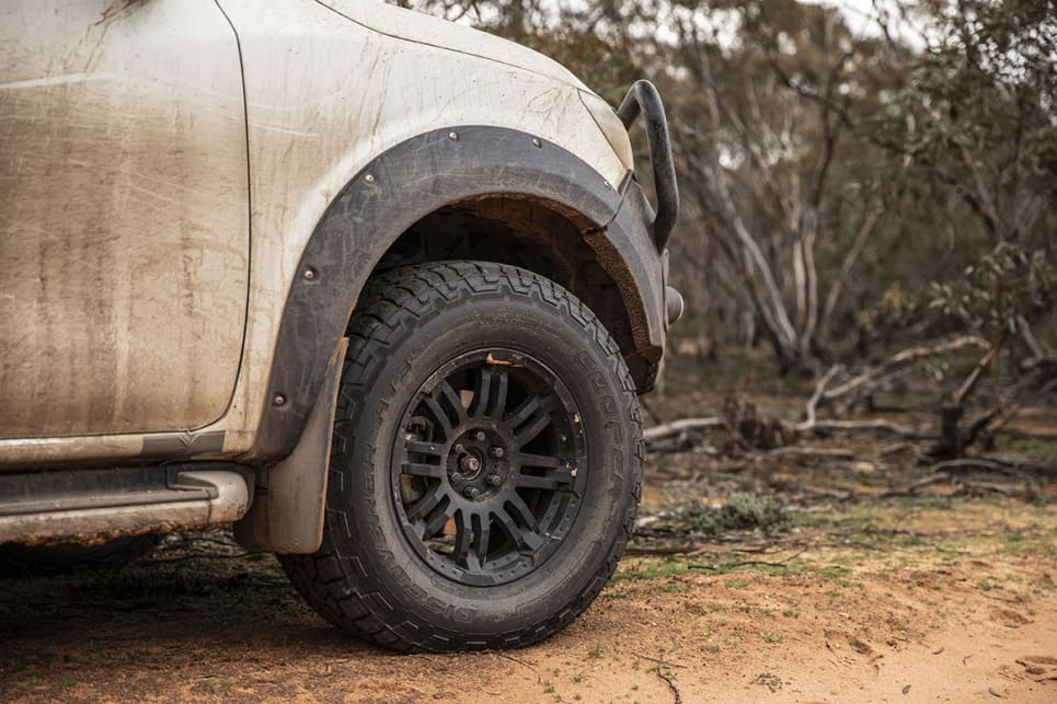 Ground clearance has increased from 228mm in the N-Trek to 300mm in this ute.