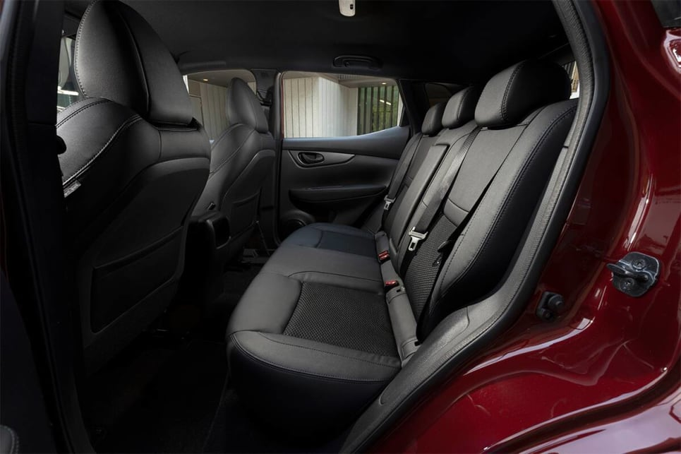 Rear head and legroom are excellent in the Qashqai.