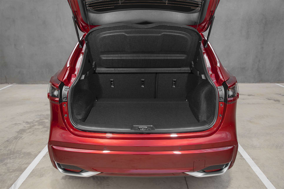 Boot space is rated at 430-litres with the rear seats in place.