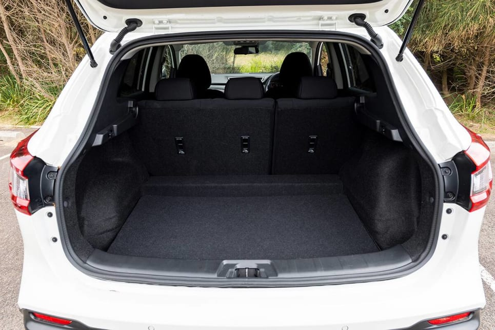Nissan Qashqai with rear seats in place.